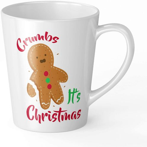 Crumbs Its Christams Design Christmas Novelty Gift Latte Mug